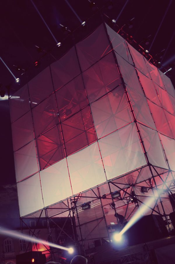 Cube - 360º projection mapping installation by Tomasz Gawroński, via Behance
