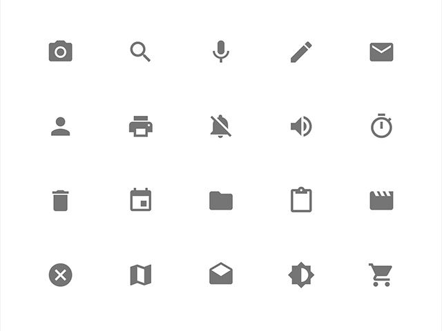 Google Design now includes 750 glyphs as part of the Material Design system icons pack. The system icons contain icons commonly used across different apps, such as icons used for media playback, communication, content editing, connectivity, and so on. They're equally useful when building for the web, Android or iOS.