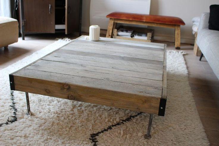 DIY qui fait plein d'effet : réalisez vous-même votre table basse avec des palettes en bois