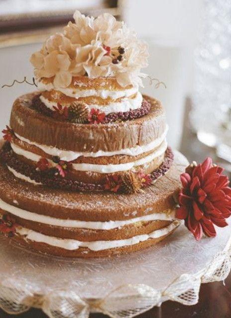 orange wedding cake choclate