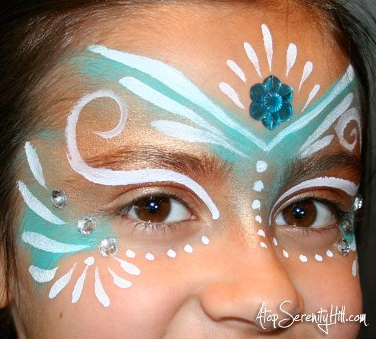 DIY Fairy Princess Face Paint by Atop Serenity Hill @ucreateblog