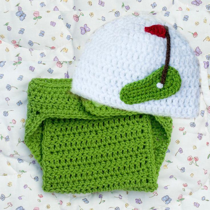 BABY GOLF BEANIE, Golf Baby Hat & Diaper Cover, Grandmabilt Crochet Golf, Baby Boy Golf Photo Prop, by Grandmabilt on Etsy