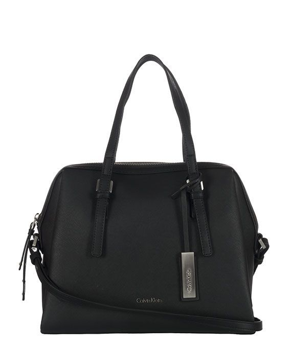 CALVIN KLEIN JEANS MARISSA BOWLING BAG. #calvinkleinjeans #bags #shoulder bags #hand bags #denim #leather #