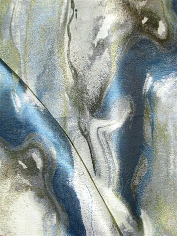 Marvella 504 Azure -  Beautiful marbleized jacquard fabric from Covington NY Fabric. Perfect for upholstery fabric, window treatments, or top of the bed.