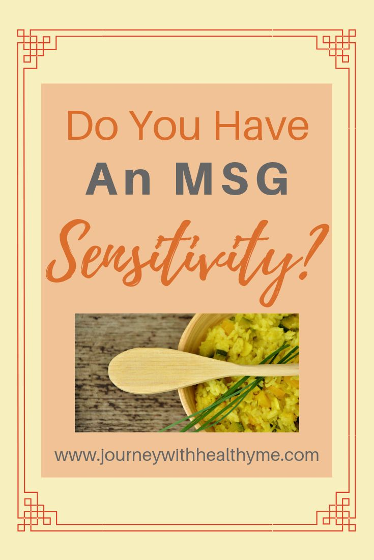 Do You Have an MSG Sensitivity? – Journey With Hea…