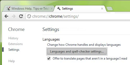 Disable Google Chrome Built-in Spell Checker?