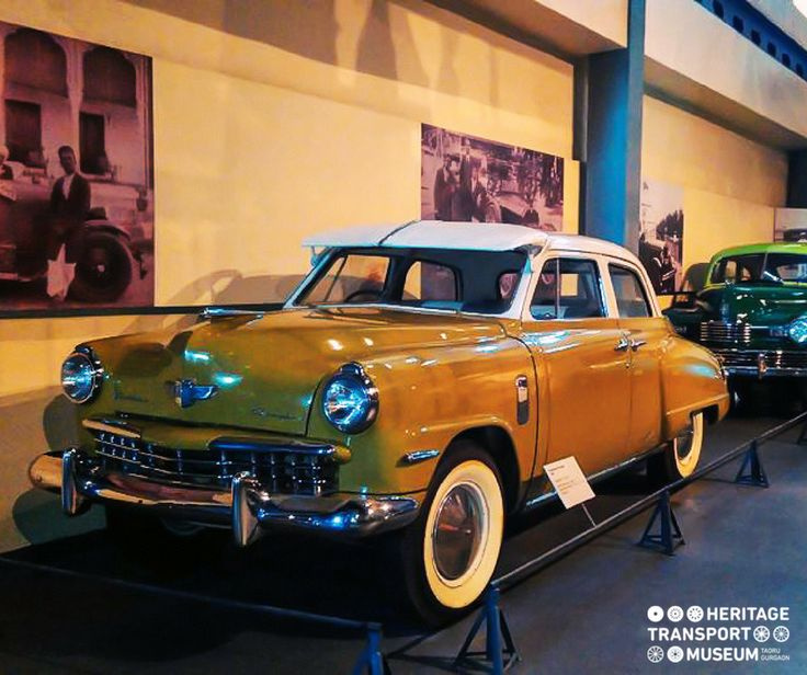 Studebaker Champion: An entirely new treatment for 5 passenger cars, upgraded with vertical style rear fenders & grilles!  #studebakerchampion #studebaker #vintagecars #classiccars #vintagecollection #carcollection #heritagetransportmuseum #exhibit