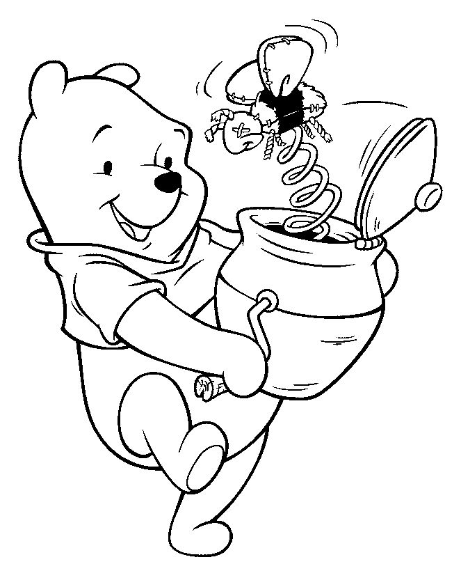 Free printable winnie the pooh coloring pages for kids
