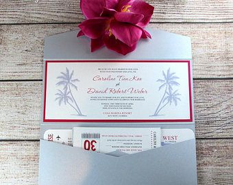 Invitaciones de boda de la tarjeta de embarque