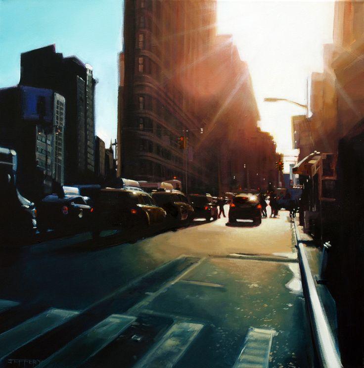 Cityscapes - BEN F JEFFERY - The Flat Iron, New York - check out Ben Jeffery the artist
