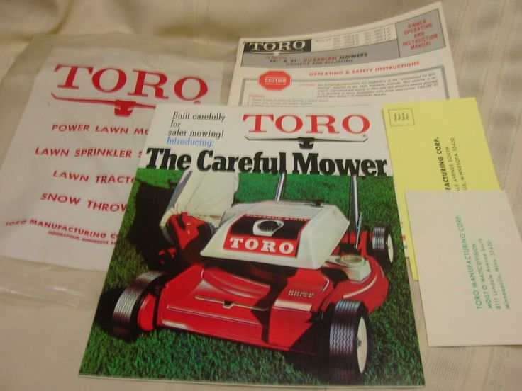 Toro Lawn Mower Instruction Manual  #Toro