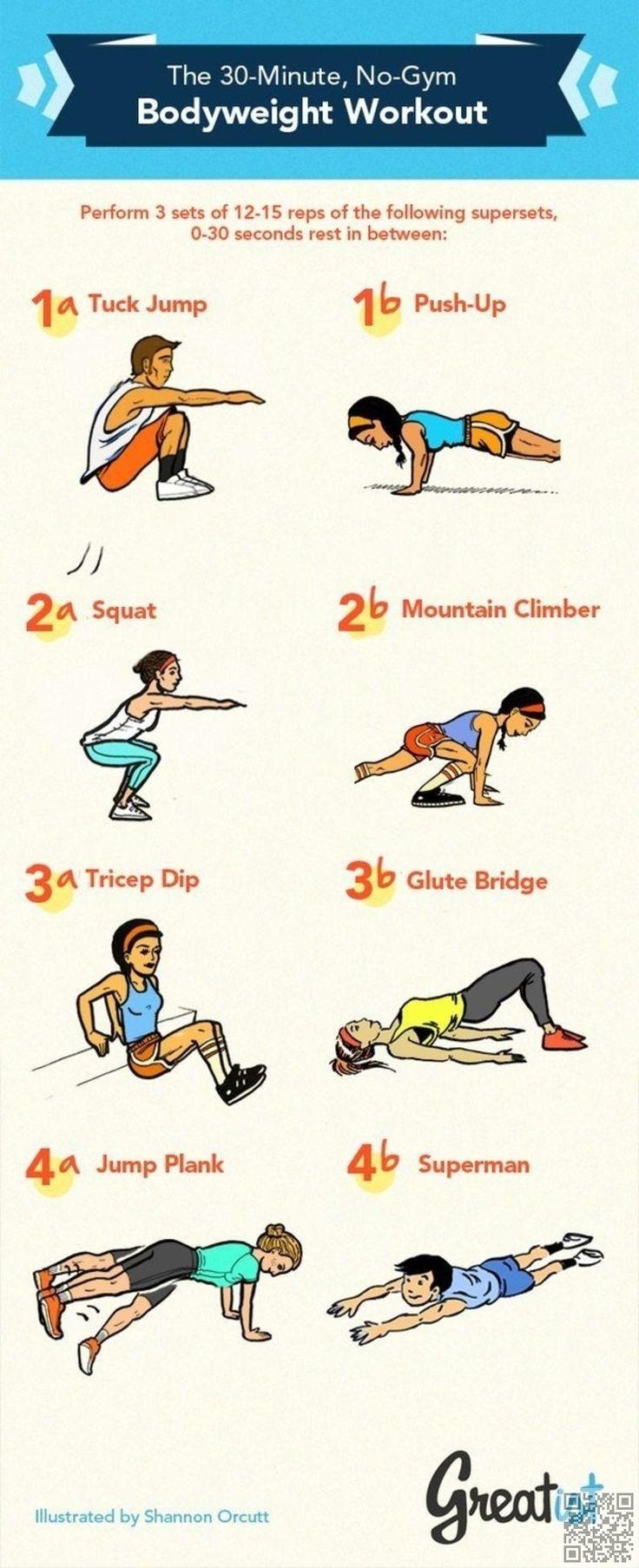 5. pas #besoin de gymnase - 19 #meilleur exercice #infographie pour votre #corps parfait... → #Fitness