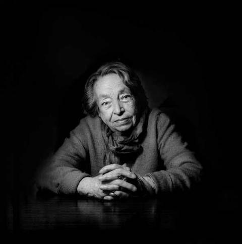 Marguerite Duras (born Marguerite Donnadieu, 1914-1996) - French writer and film director. Photo by Arnold Baumann, 1991