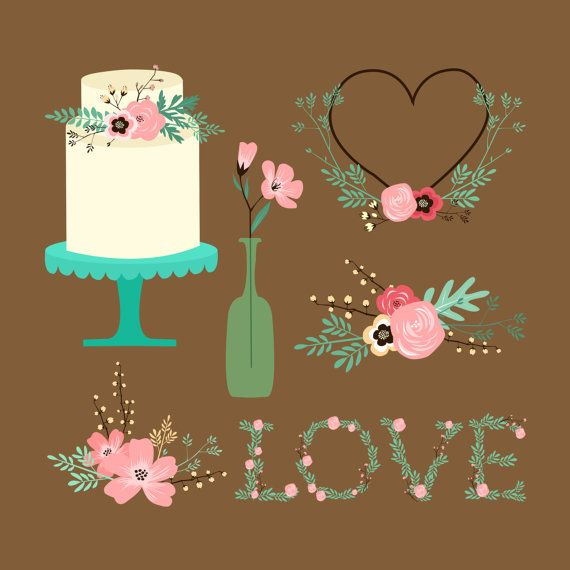 Digital Download Rustic Wedding Clip Art Vector By