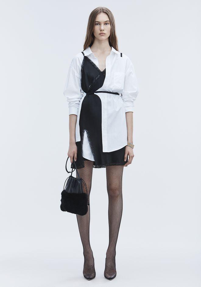 Alexander Wang Hybrid Cotton Shirt Dress In White Modesens Clothes Design Cotton Shirt Dress Dresses