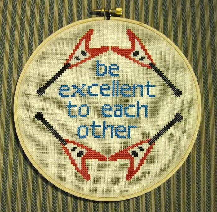 bill & ted <3!!!: Counted Crosses Stitches, Crosses Stitches Patterns, Excel Adventure, Bill, Crossstitch, Funny Crosses Stitches, Cross Stitch Patterns, Cross Stitches, Crafts