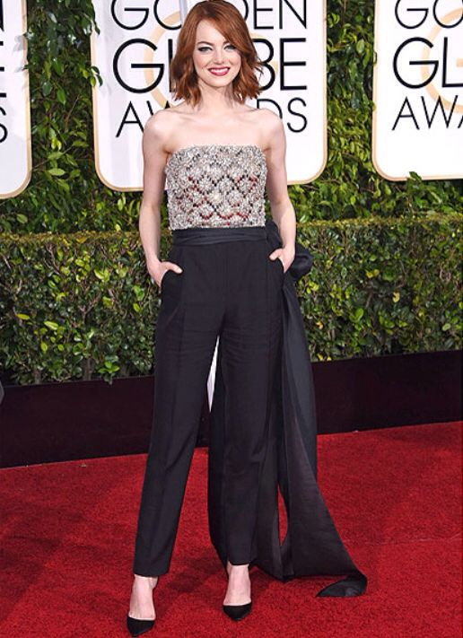 Emna Stone looking great at the Golden Globes 2015!