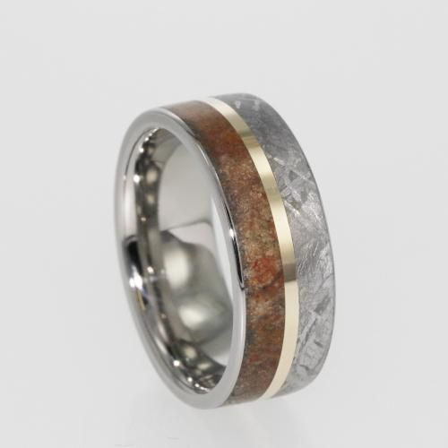 dinosaur bone wedding ring jewelry by johan dinosaur fossil and meteorite ring 3550