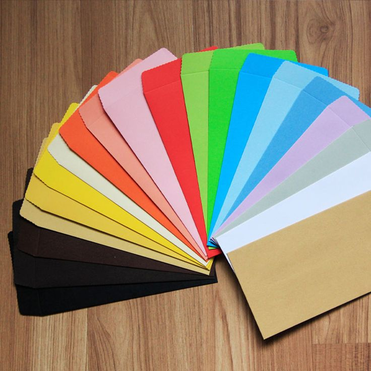 50pcs 170mm*85mm Color Paper Envelope Vertical Chinese Style Gift Envelope