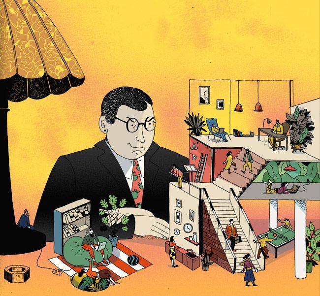 Сообщество иллюстраторов   Иллюстрация Офис как инструмент управления