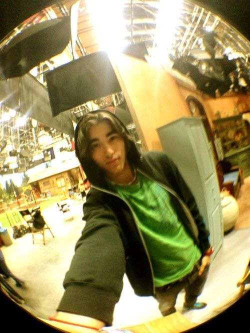"Photo: Blake Michael On The Set Of ""Dog With A Blog"" December 14, 2012"