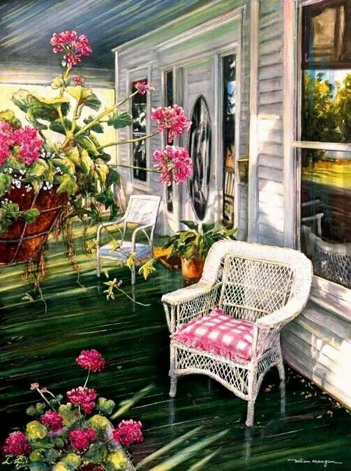 268 best images about pretty paintings of country scenes for Country porch coupon code