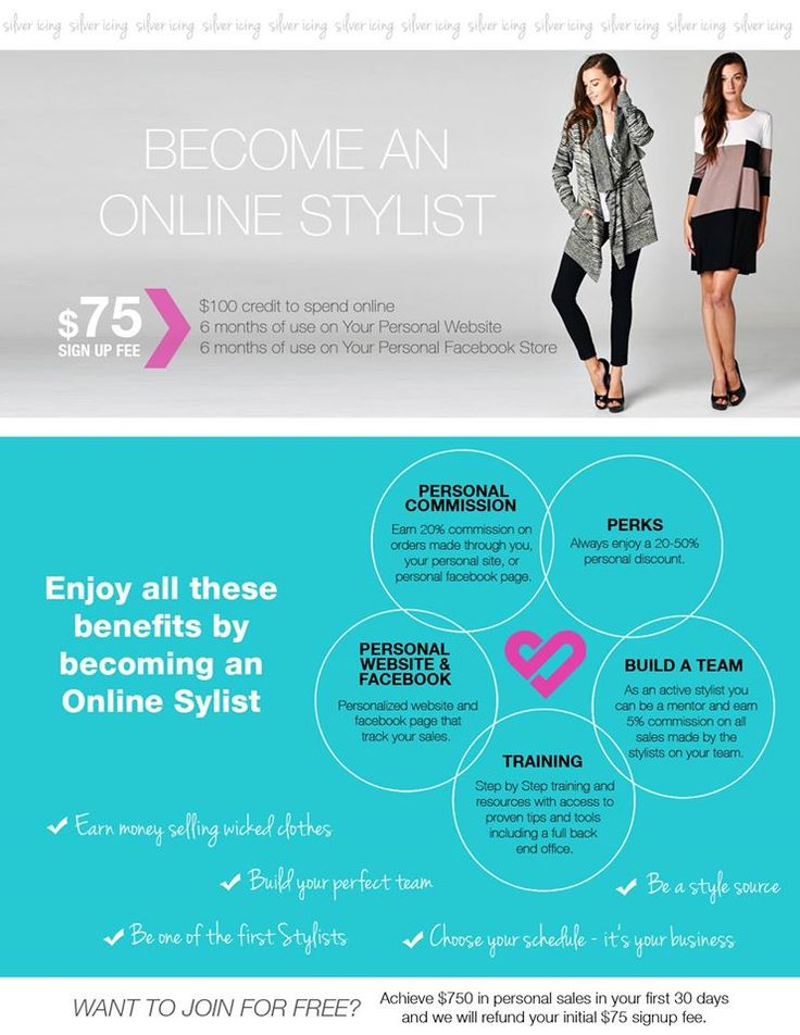 Become a Stylist today! $75 sign up fee! Receive $100 Gift Card and more!  Online Shopping!
