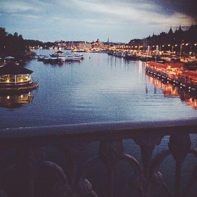 View of Stockholm , Djurgården . Strandvägen . Beautiful