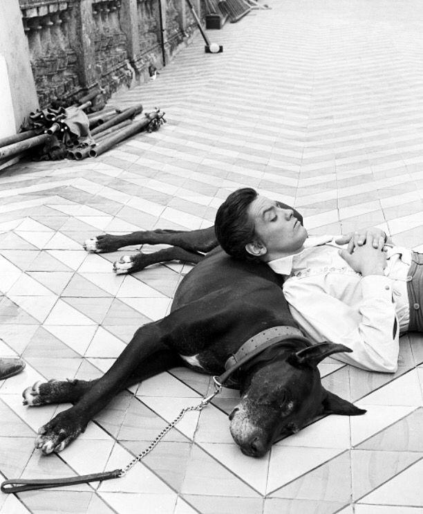 Alain Delon While young