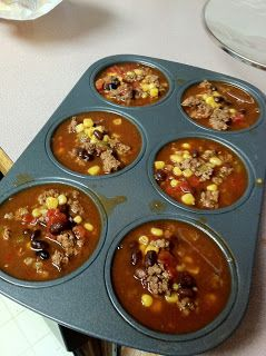 such a great idea for freezing soup... then you can throw them into a ziplock bag instead of a bunch of containers...
