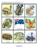 Australian Animals matching games and activities for Preschool, PreK and Kindergarten
