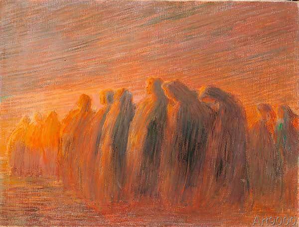 Gaetano Previati - Il ritorno delle pie donne (71,0 x 54,0 cm)