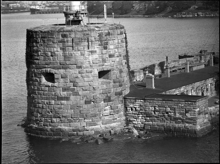 Fort Denison in Sydney Harbour in 1930.