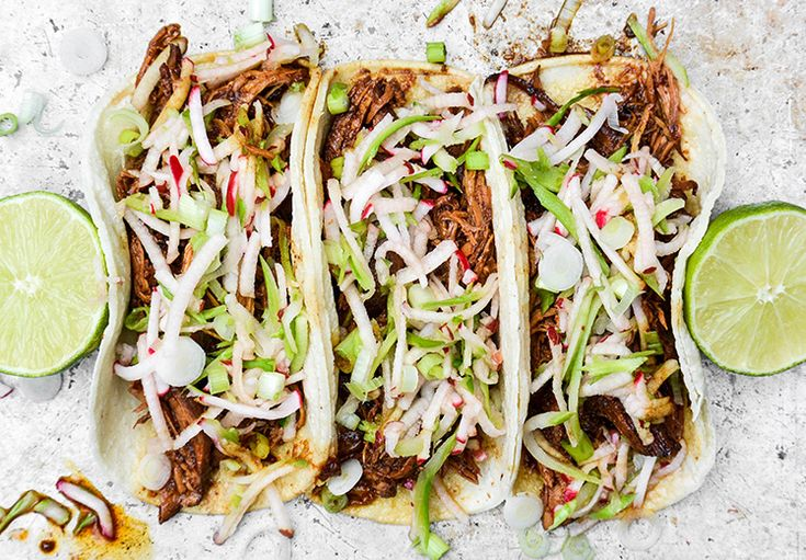Slow Cooker Hoisin Shredded Chicken Sandwich With Asian Slaw Recipe ...