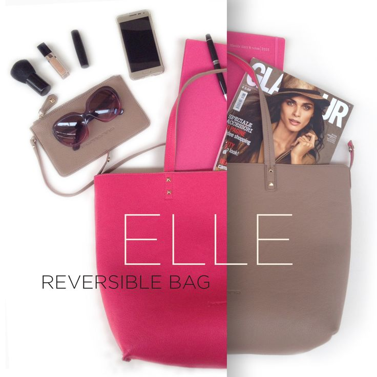 ELLE - the Fornarina REVERSIBLE bag #myfornarina #SS15 #itbag #reversible #Elle