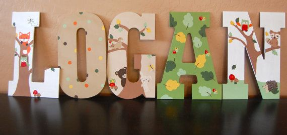 lambs and ivy echo bedding nursery woodland fox letters name