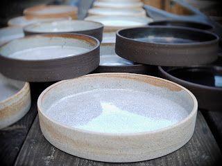 glaze- dipped wide taco plates