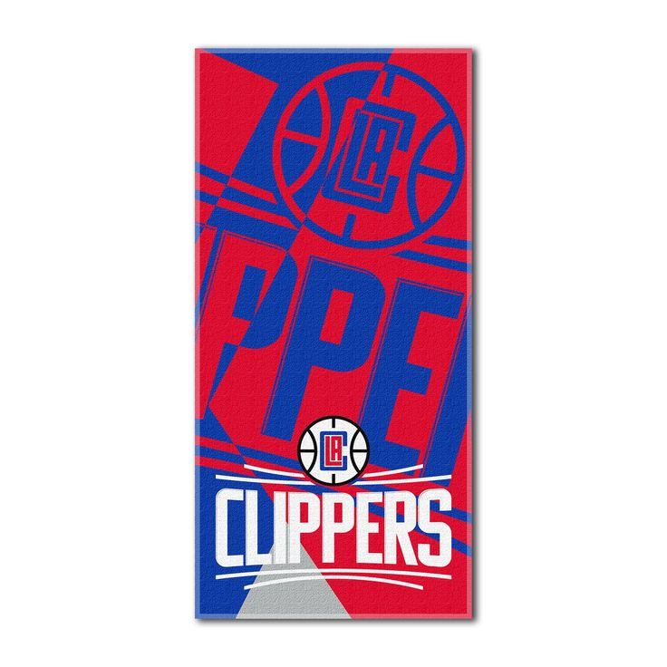 "Clippers OFFICIAL National Basketball League, ""Puzzle"" 34""x 72"" Over-sized Beach Towel - by The Northwest Company"