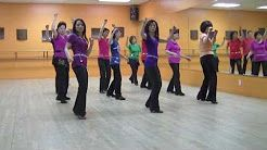 raise your glass line dance country - YouTube