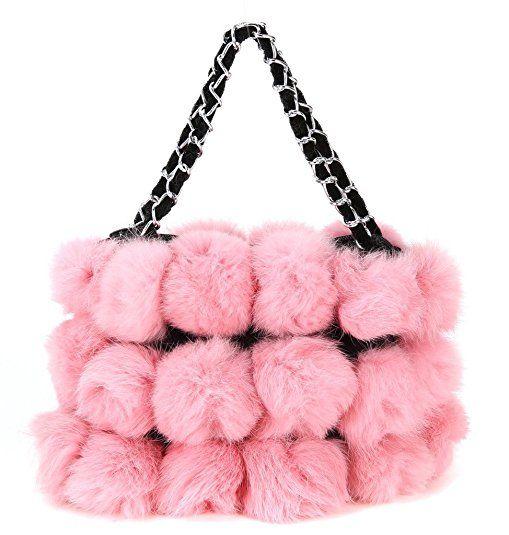 Pink Fur Winter Warmer Handbag