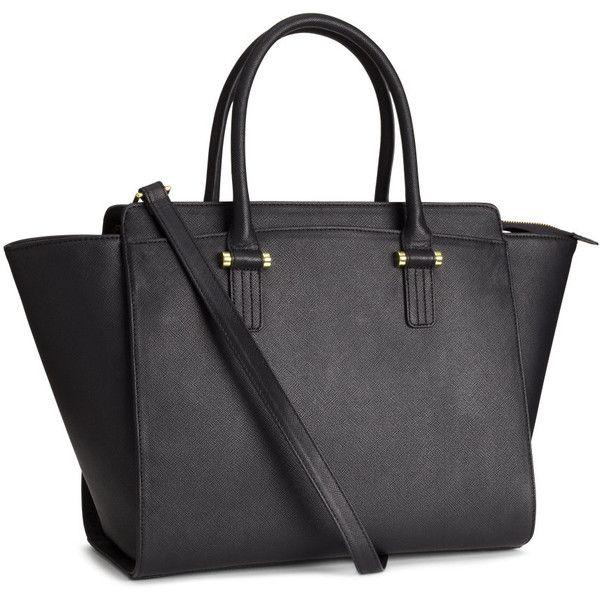 H&M Handbag (51 CAD) ❤ liked on Polyvore featuring bags, handbags, black, h&m, torbe, zipper purse, handbag purse, zip bag, h&m purses and h&m handbags