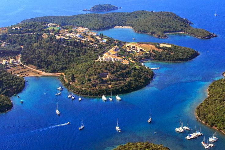 Aerial view on the village of Sivota, Greece