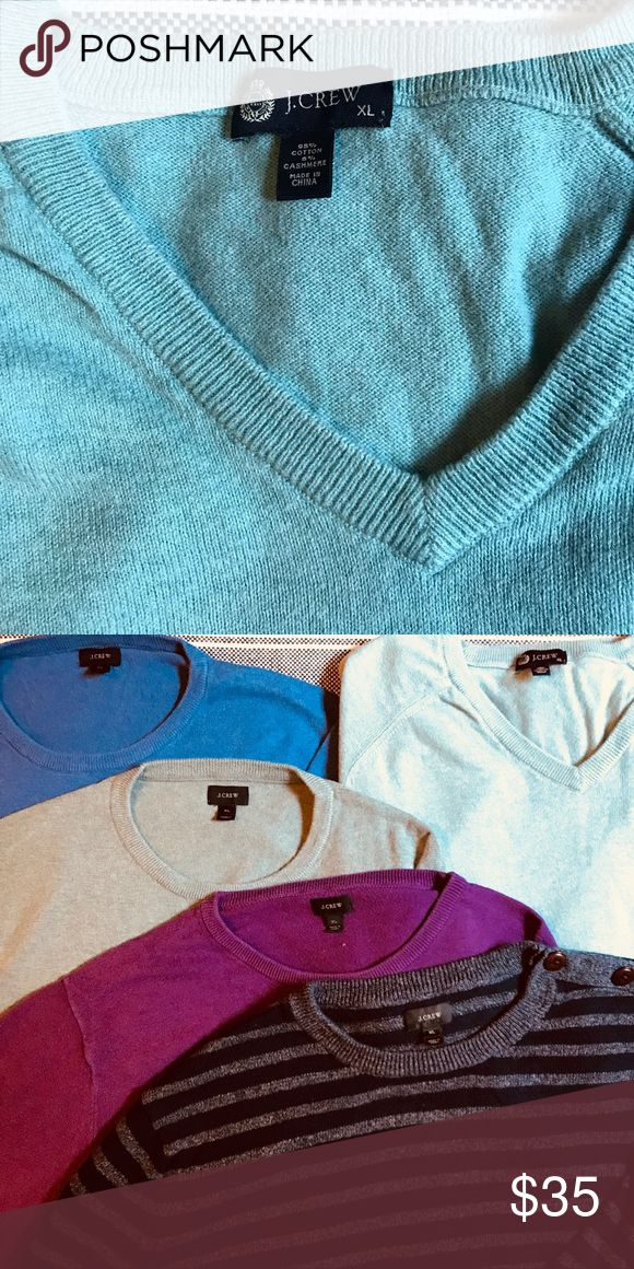 J. Crew Men's Turquoise V-Neck Sweater (XL) Sweater Sale! Add this V-Neck sweater to a bundle with one or more J. Crew sweaters to receive a special discount! J. Crew Sweaters V-Neck