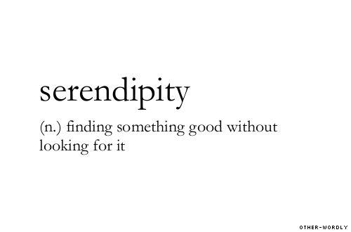 serendipity (def.)