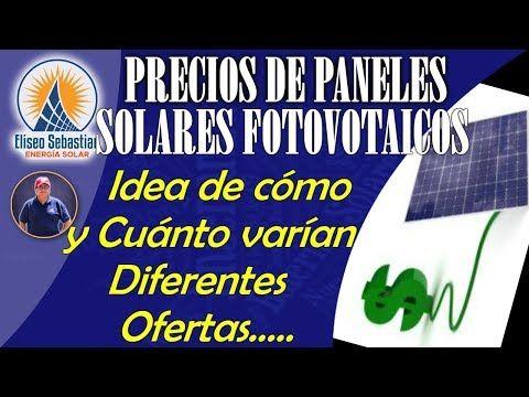 Precio de paneles solares fotovoltaicos EliseoSebastian