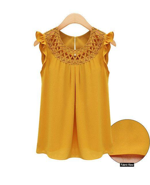 2017 Summer Sleeveless Blouses blusas Chiffon Blouse Womens chemise femme Woman Clothes White vintage Shirt Camisas Mujer xxl