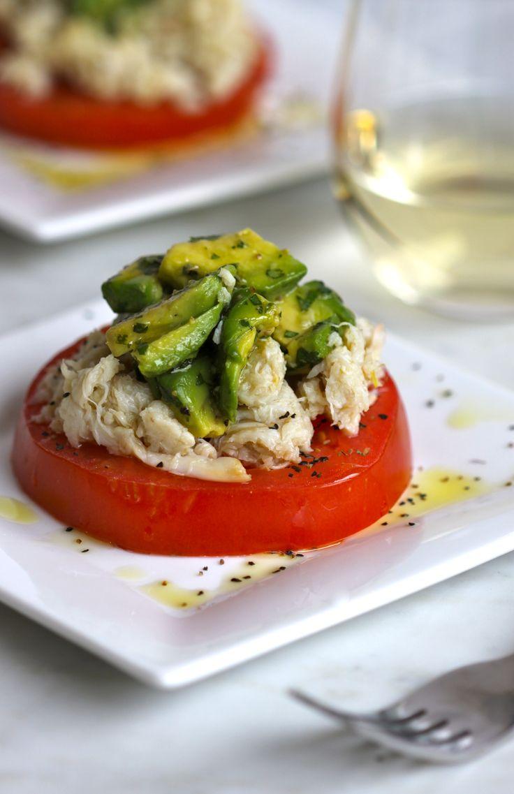 Crab and Tomato Salad with Jalapeno Avocado Dressing   www.climbinggriermountain.com