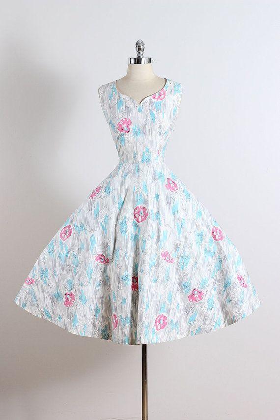 Vintage 50s Dress 1950s Marc-el Fashions . by millstreetvintage
