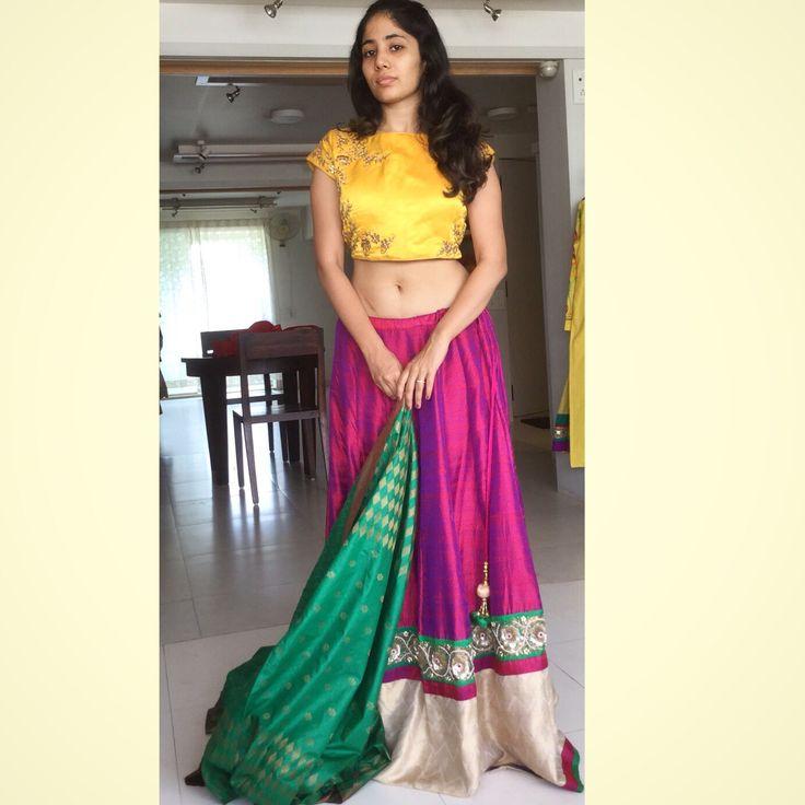 How to half wear saree dupatta