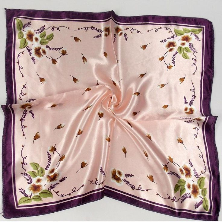 Korean silk small square scarf satin multi - functional small scarf scarves and more Variety scarves w1898